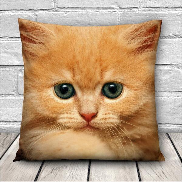 3D Cute Expressions Cats Throw Kissenbezüge Sofa Office Car Kissenbezug Geschenk