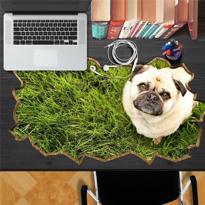 犬ペット芝生PAGステッカー3Dデスクステッカー壁デカール家の壁デスクテーブル装飾ギフト