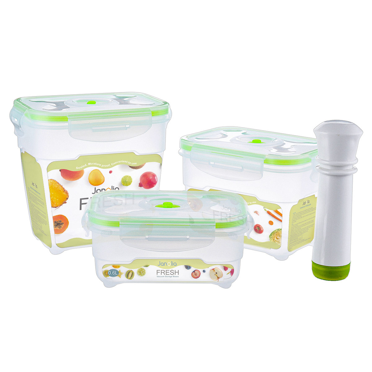 Plastic Vacuum Storage Box Lunch Box Microwave Dishwasher Safe Food  Container Kitchen Storage Container