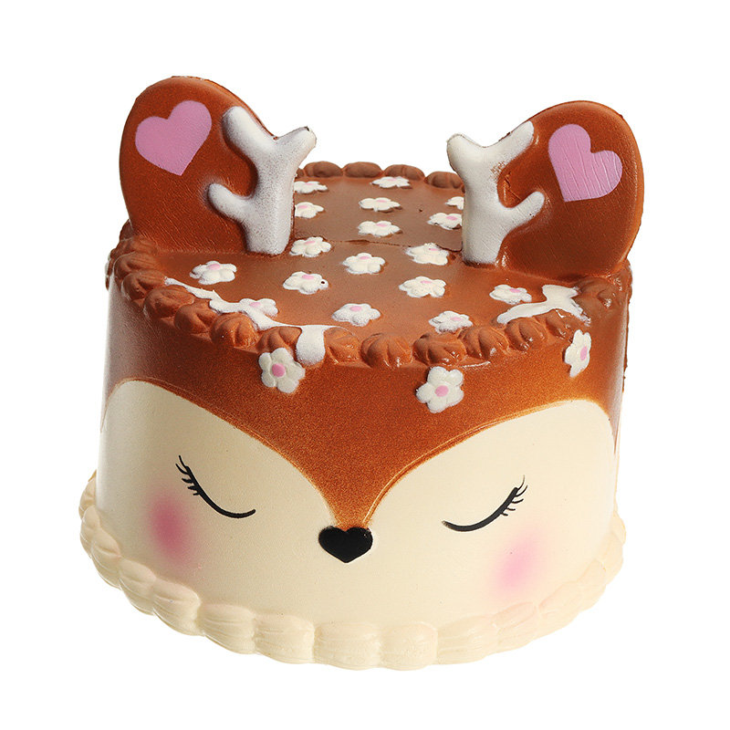 4d5c99d4ec9f Kawaii Chocolate Deer Fawn Cake Squishy Slow Rising Soft Collection Gift  Decor Toy
