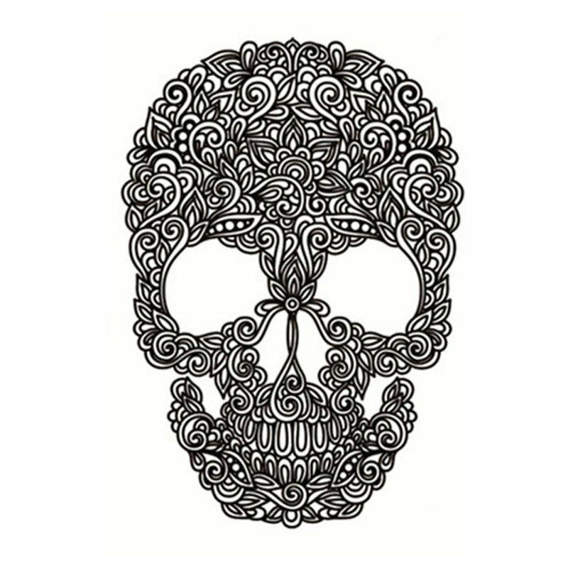 Halloween Dark Mage Skeleton Skull Arm Waterproof Temporary Tattoo Sticker