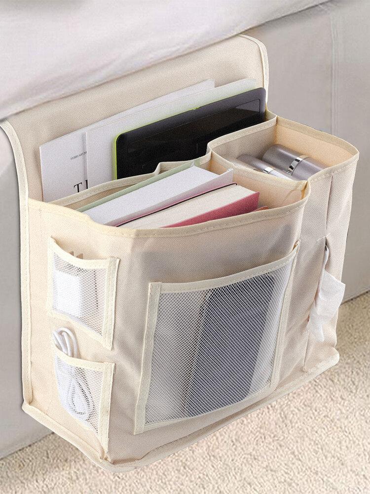 Oxford Cloth Sofa Hanging Bag Under Bed Storage Bag Remote Control Book Storage Box