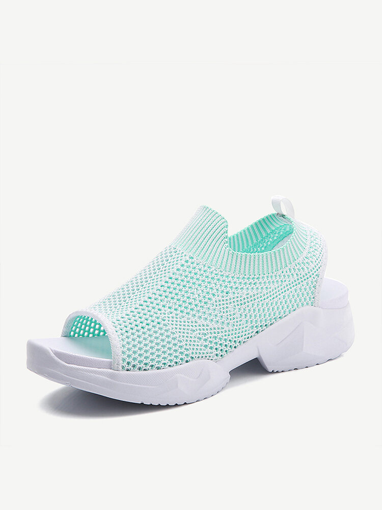 Women Knitted Breathable Casual Outdoors Sport Sandals