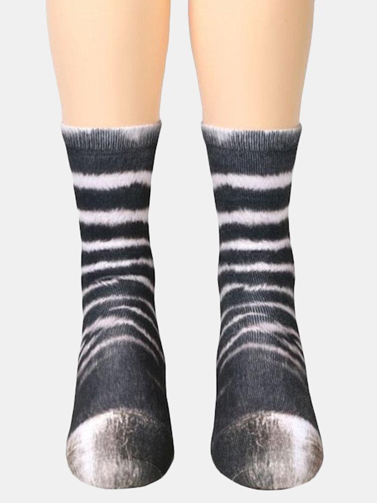 ユニセックス大人の動物プリントソックス動物チューブソックス3 dプリント動物足蹄靴下