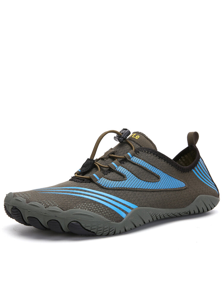 Men Lace-up Non Slip Printing Pattern Outdoor Casual Water Shoes