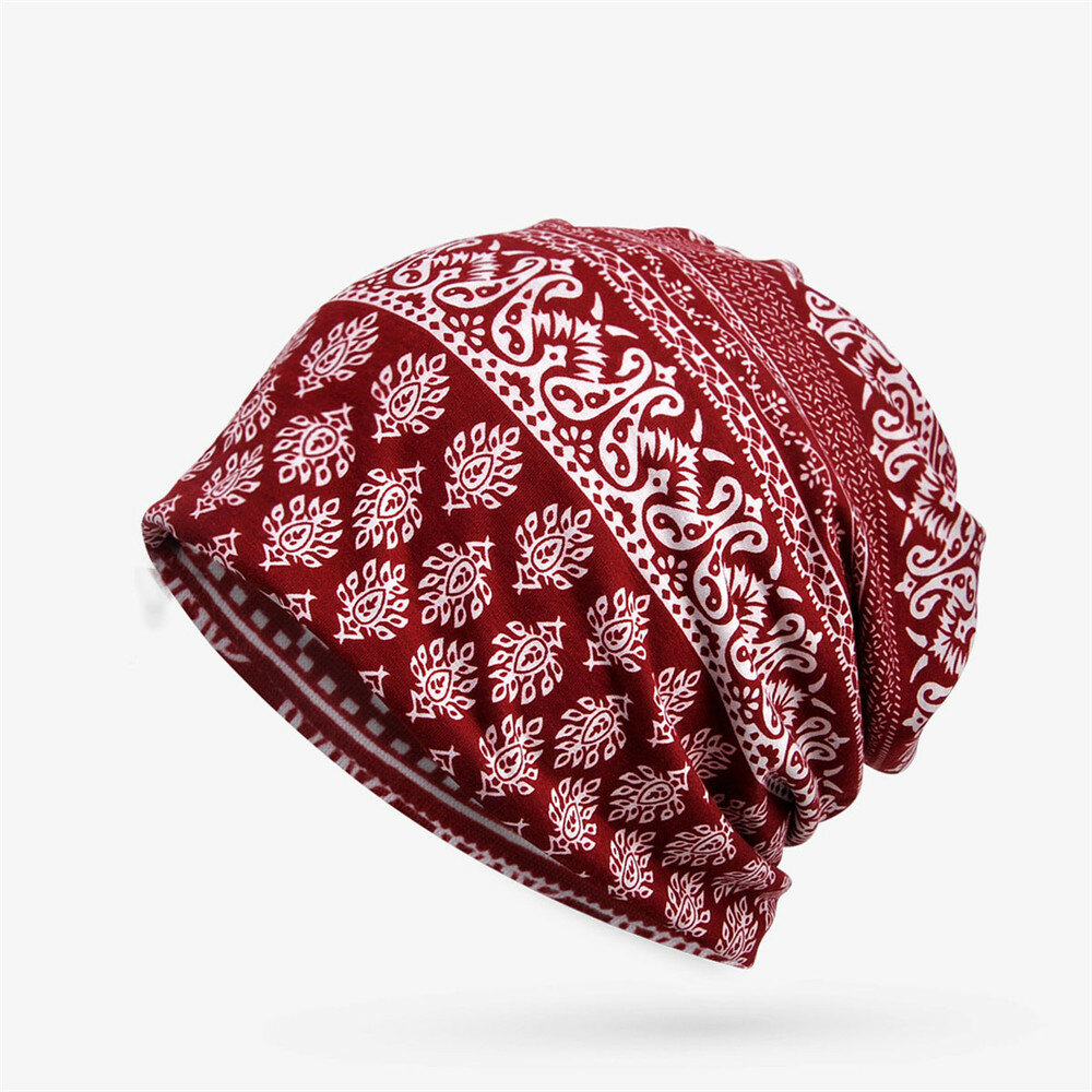 Women Breathable Cotton Hollow Out Top Beanie Caps Outdoor Sports Head Band