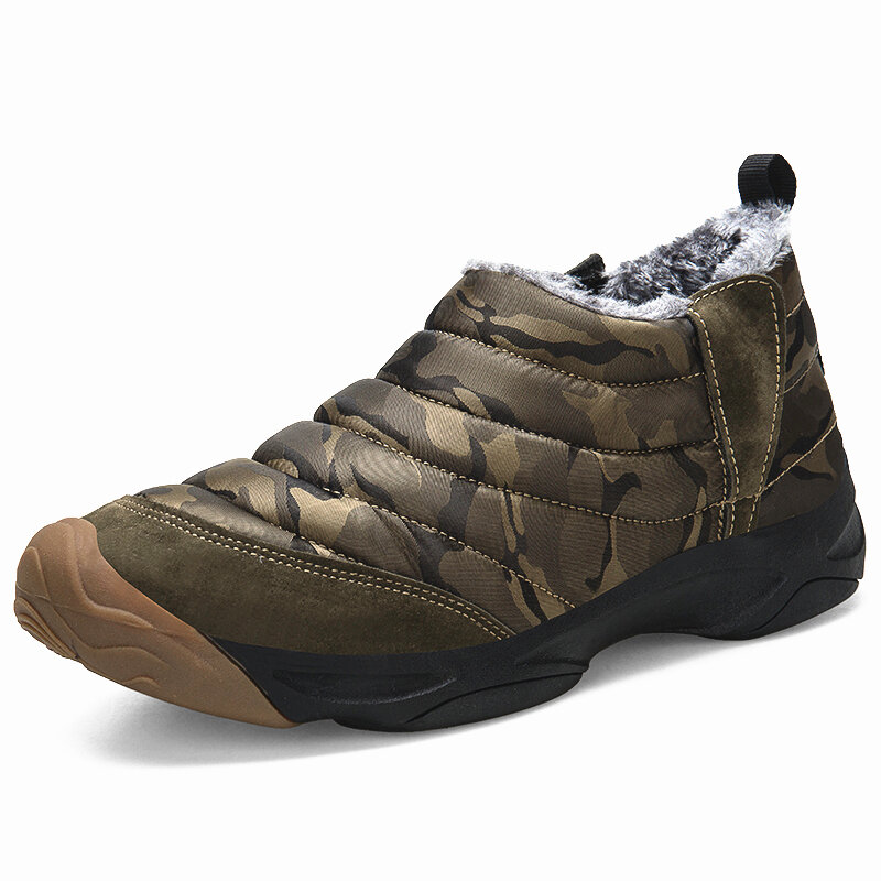 Men Outdoor Waterproof Anti-collision Wearable Warm Lined Hiking Boots