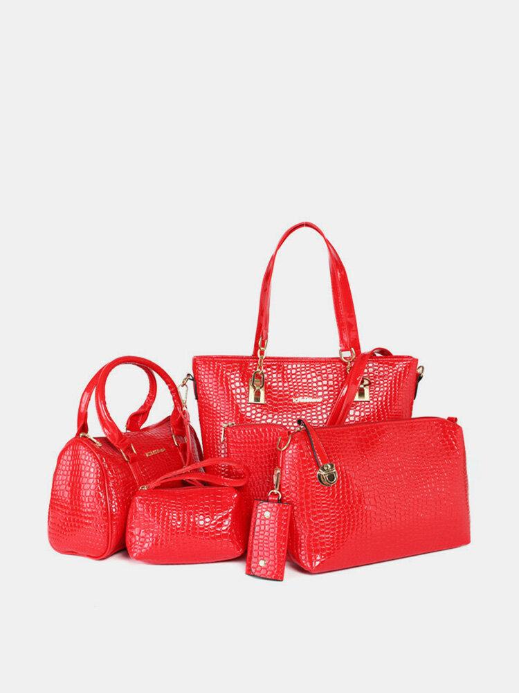 Women Elegant Patent Leather Bag
