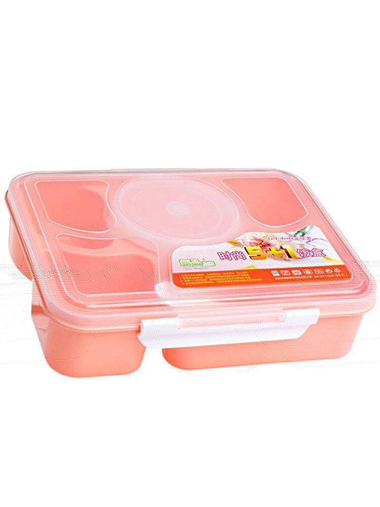 5-zellen 1000ml صندوق متين من نوع ونتشبوكس معزول حاوية طعام من البلاستيك