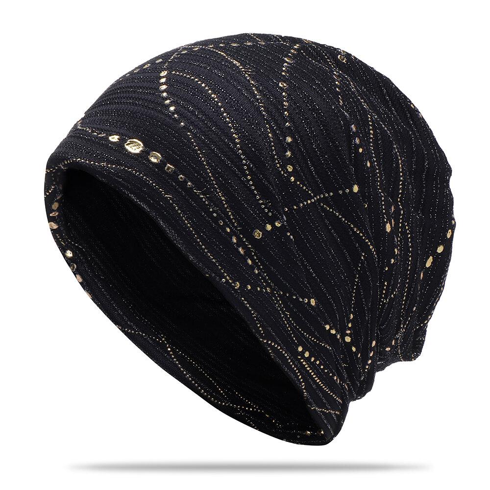 المرأة القطن رقيقة التجفيف السريع تنفس شعر عرق ويغطي مترهل لينة قبعة صغيرة مرنة