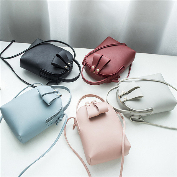 Hot-sale designer Women Solid Leisure Mini Phone Bags Faux Leather Bucket Bags Travel Crossbody Bags Online