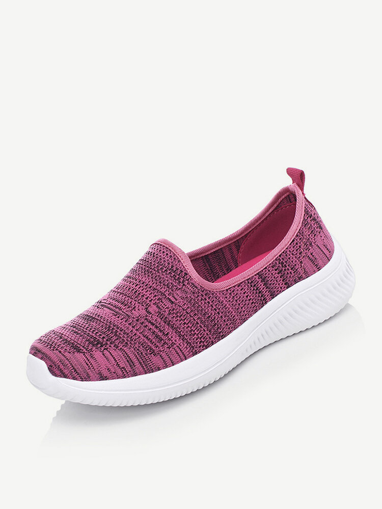 Women Woven Fabric Stretch Comfort Slip On Casual Snerkers