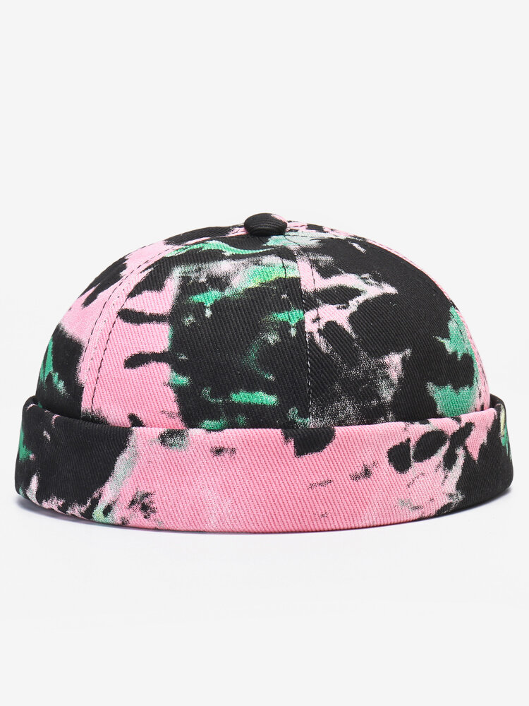 Men & Women Contrast Color Pattern Casual Beanie Landlord Cap Skull Cap