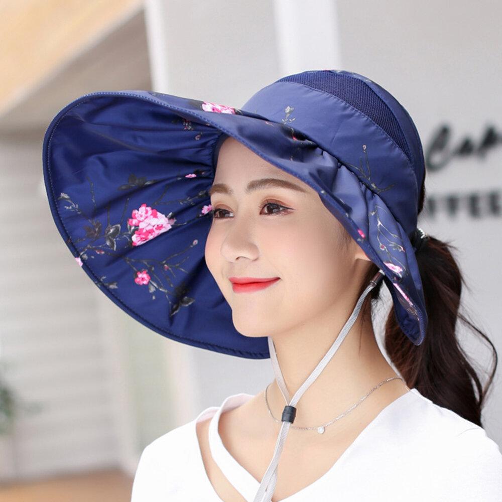 Casquette imprimée pare-soleil pour femmes Protection solaire