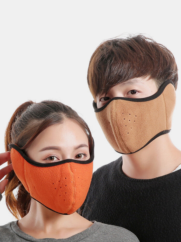 Men Women Winter Warm Windproof Multifunction Outdoor Cycling Ski Mouth Face Mask Beanie Scarf