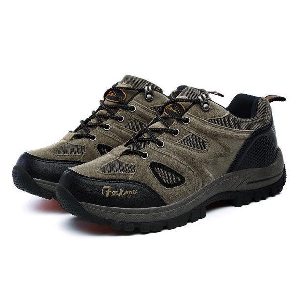 Large Size Men Breathable Mesh Outdoor Slip Resistant Sport Hiking Shoes