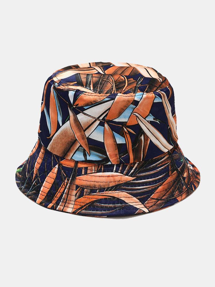 Women & Men Floral Overlay Print Pattern Casual Outdoor Visor Bucket Hat