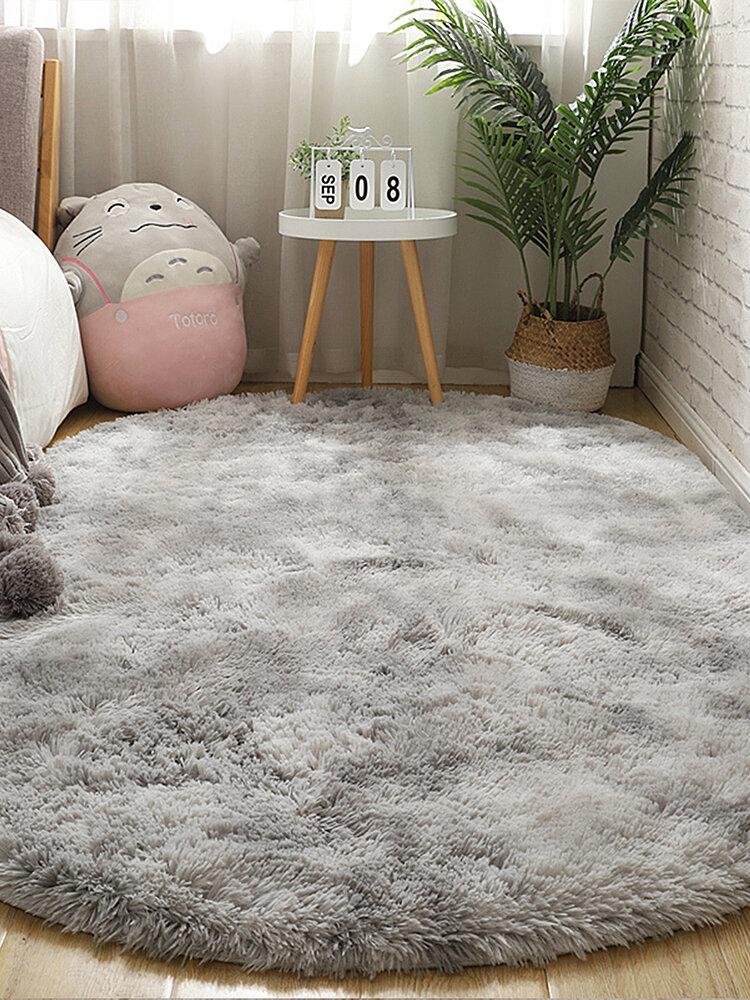 Langes buntes Tie-Dye-Farbverlaufsteppich Wohnzimmer Schlafzimmer Nachttisch Decke Couchtisch Kissen Voller Teppich Bodenmatte