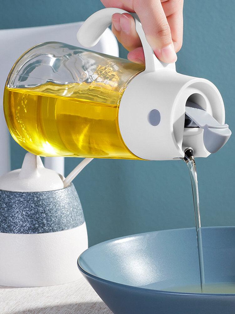 زجاجة تخزين زجاجية للتوابل للمطبخ ومضادة للرطوبة ومضادة للأتربة بسعة كبيرة زجاجة خل زيت الصوص