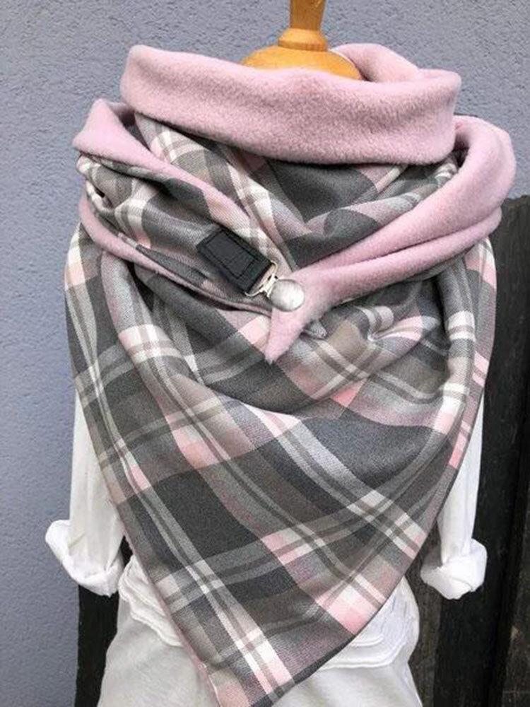 Женское Универсальный толстый теплый шарф с принтом в виде решетки