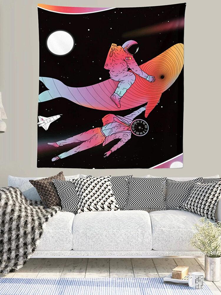 宇宙飛行士タペストリー壁サイケデリックタペストリー寝室ホームカーテンタペストリー壁タペストリー