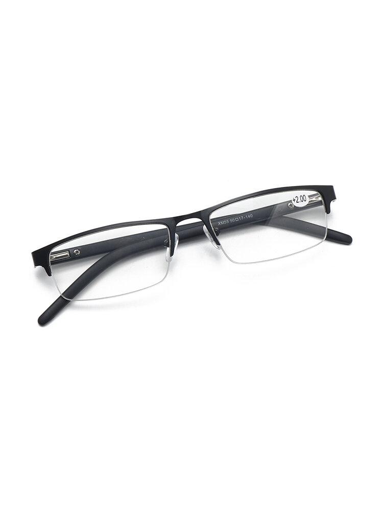 نظارات قراءة مربعة الشكل وخفيفة الوزن للرجال والنساء عالي الوضوح نظارة قراءة مكبرة