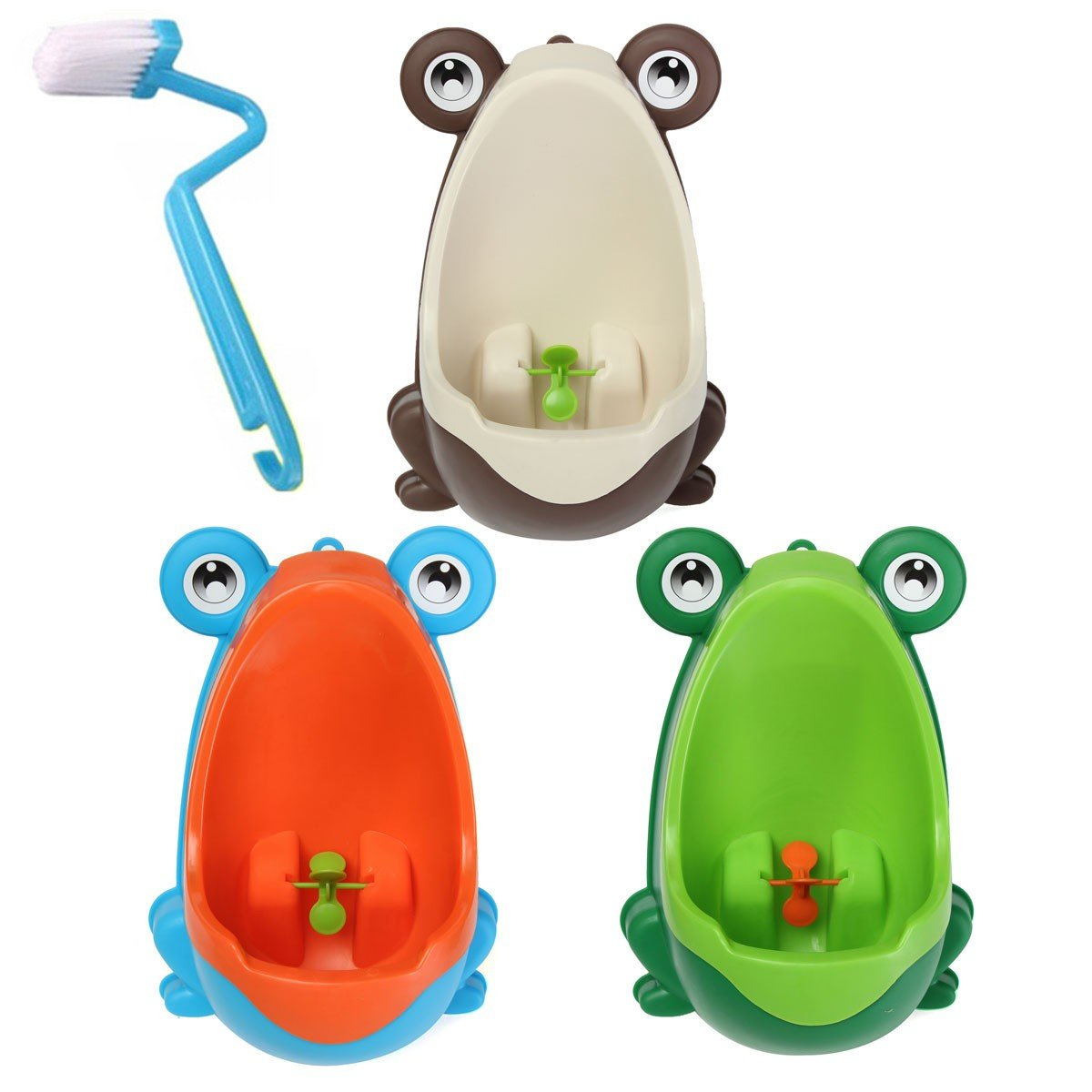 Lovely Frog Children Potty Toilet Training Brush Cleaning Kids Urinal Kid Boy Pee Removable Bathroom