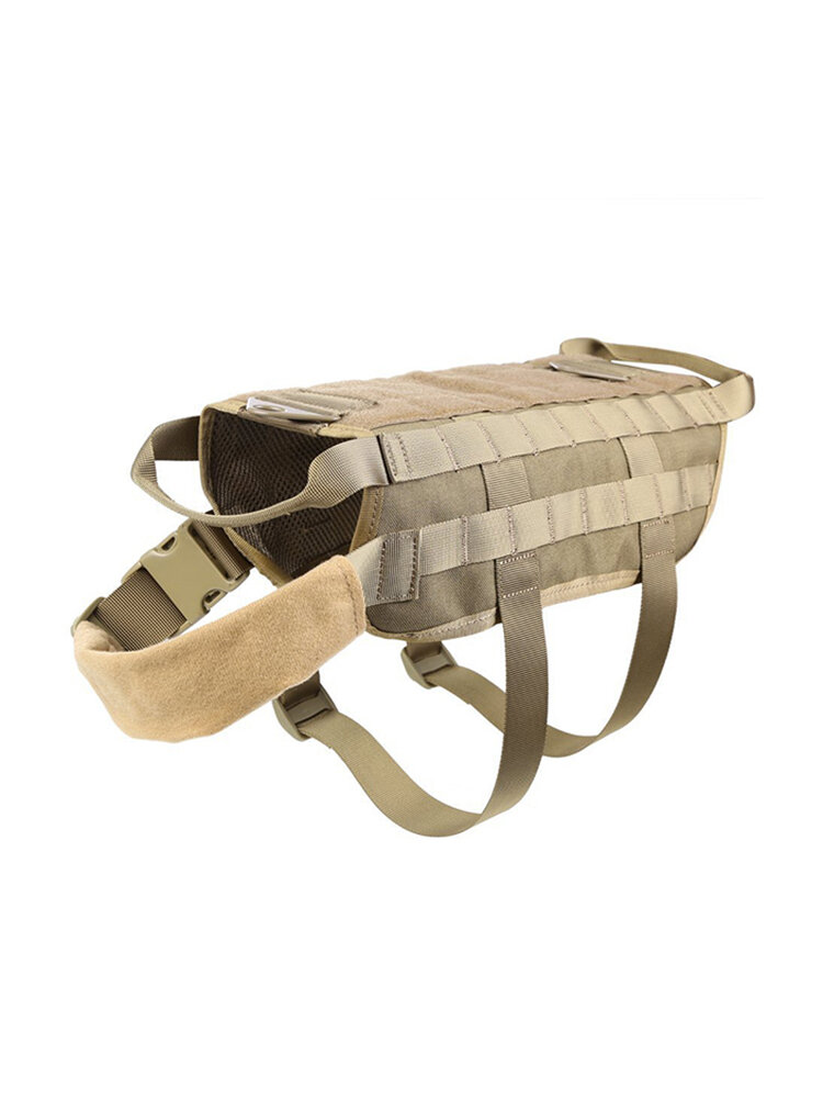 600D Nylon Police Tactical Military Molle System Dog Military Tactical Equipment Training Dog Vest