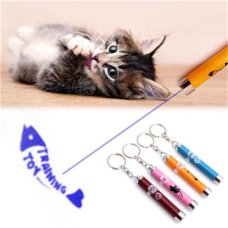Portable Creative Funny Pet Cat Toys LED Laser Pointer light Pen