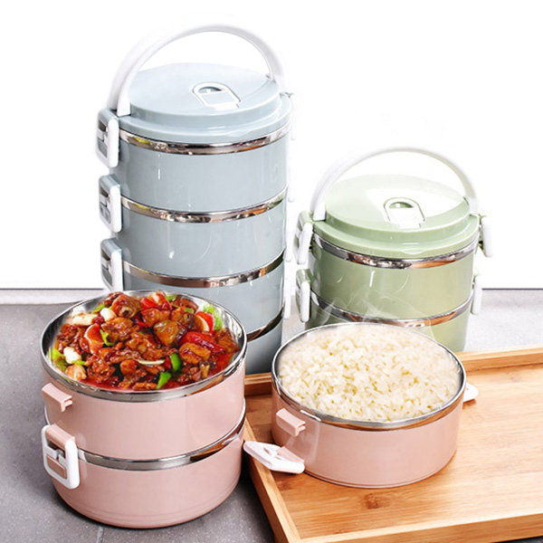 3b7f2ca7119 1 2 3 4 Layers Stainless Steel Thermal Insulated Lunch Box Bento Food  Storage Container Maccaron - Newchic