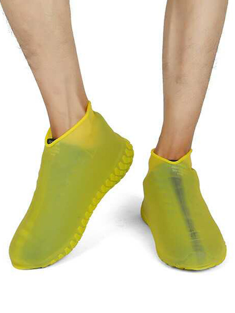 Silicone Fluorescent Shoe Cover Outdoor Home Glow Waterproof And Dustproof Dhoe Cover Rain Boot