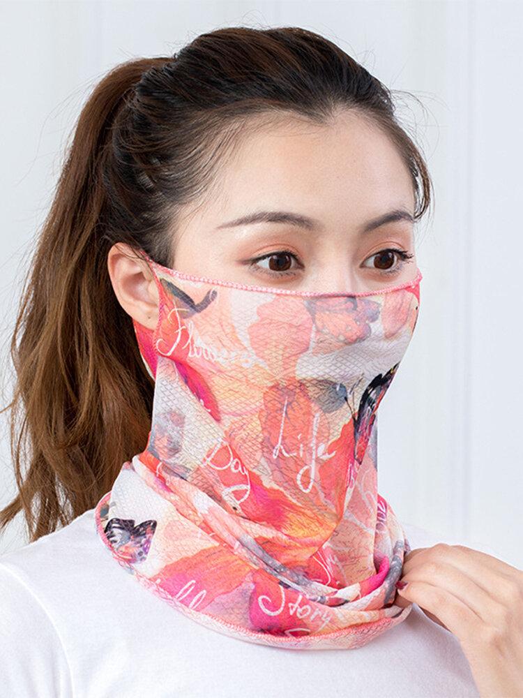 印刷された速乾性のアイスシルクスカーフ日焼け止めシェーディング多機能ネックスカーフネックマスク