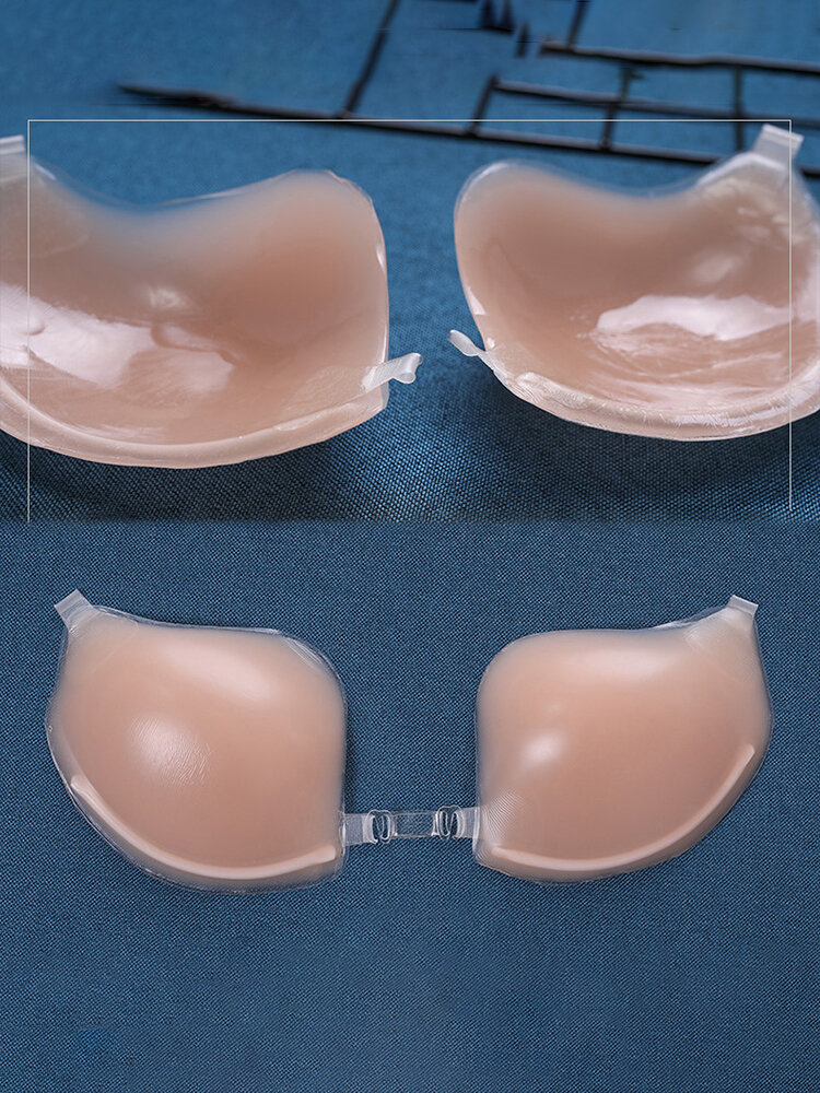 Front Closure Silicone Halter Self-adhesive Strapless Thin Bras