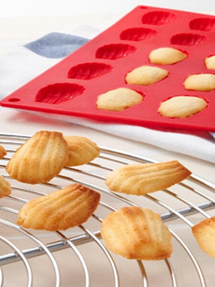 Мини-оболочка Мадлен на 20 полостей Силиконовый Форма для торта Силиконовый Форма для выпечки печенья Инструмент