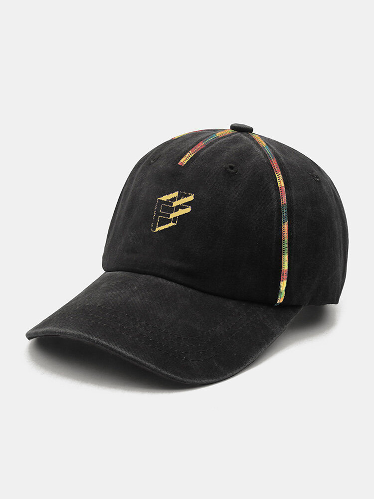 Unisex Polyester Cotton Colorful Valgus Overlock 3D Letter Embroidery Fashion Sunshade Baseball Cap