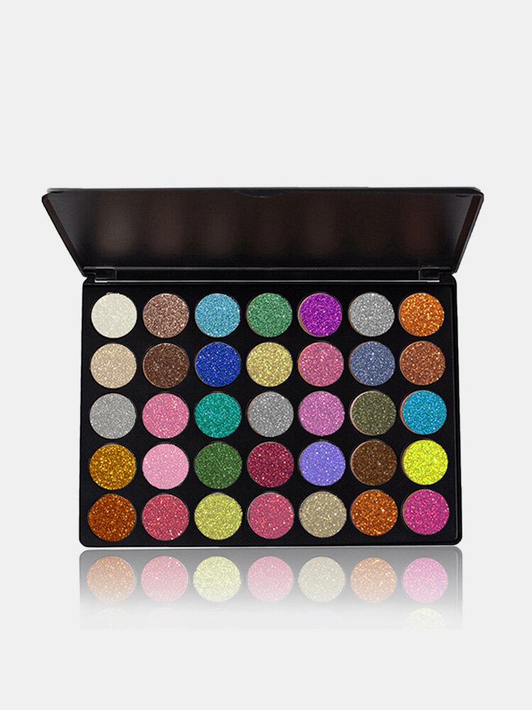 VERONNI Brilho Paleta de sombras de ojos Ojos Cosméticos Fiesta Maquillaje 35 colores Lentejuelas en polvo