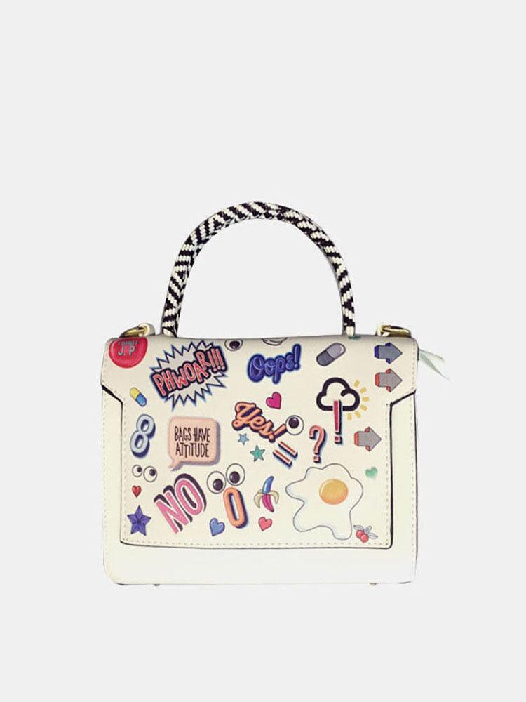 Women Large Capacity Printed Graffiti Handbag
