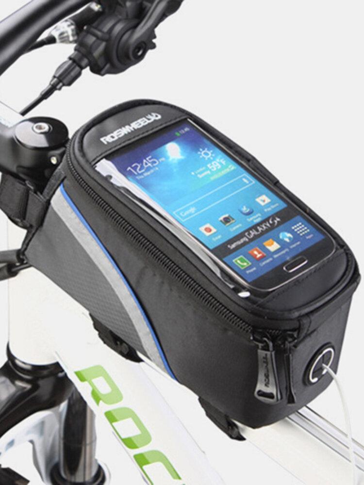 Bicicleta Bolsa Teléfono con pantalla táctil Bolsa Teléfono táctil para montar Bolsa 5,7 Inch