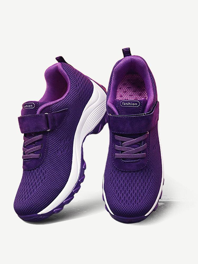 Women Mesh Hook Loop Breathable Sport Casual Shoes