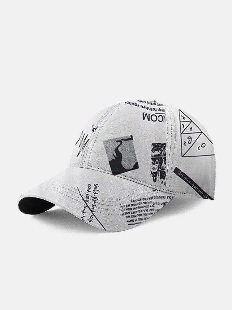 ユニセックス数学グラフィティパターン印刷ファッション野球帽