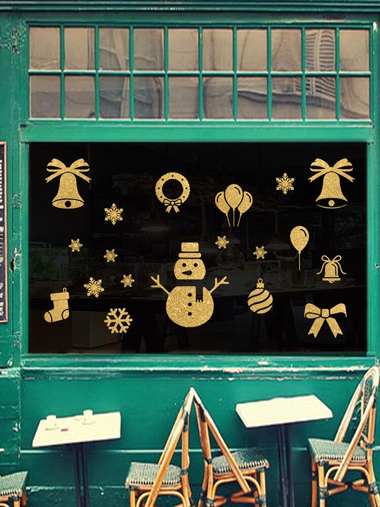 3 шт. Рождественский стикер стены снеговик рождественский чулок стикер украшения стены