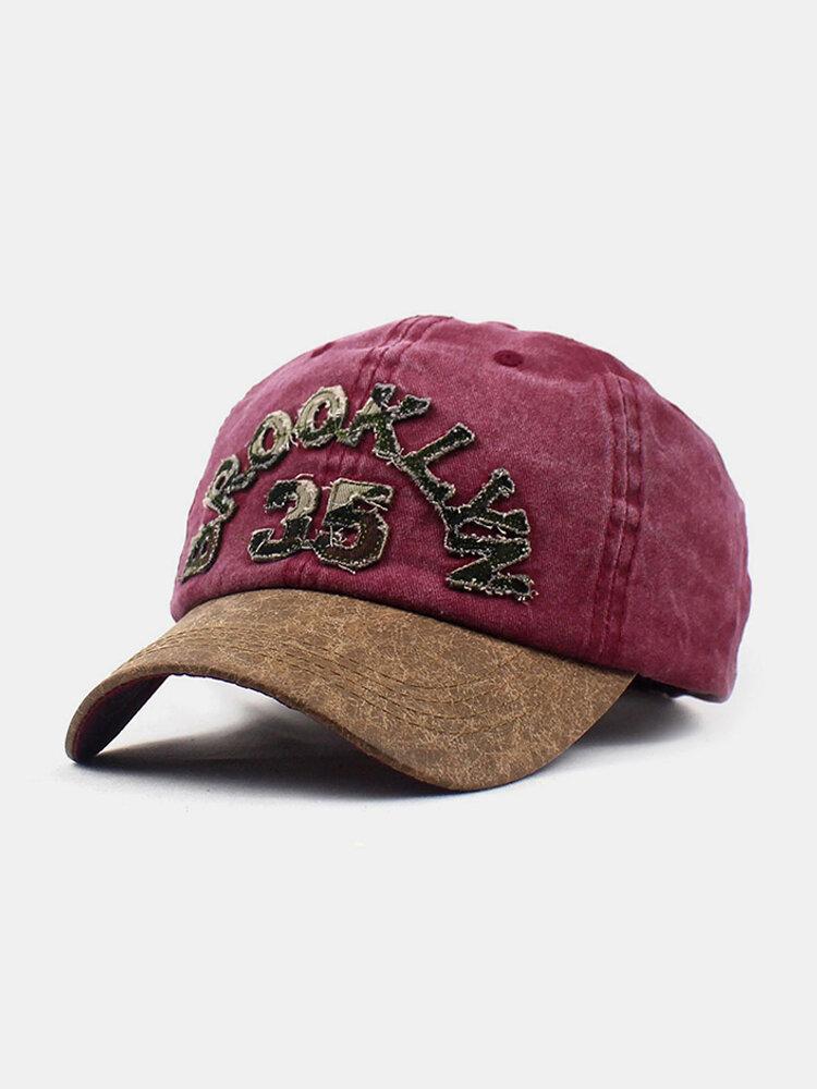 New Fashion Baseball Cap Retro Sun Hat Embroidery Hats