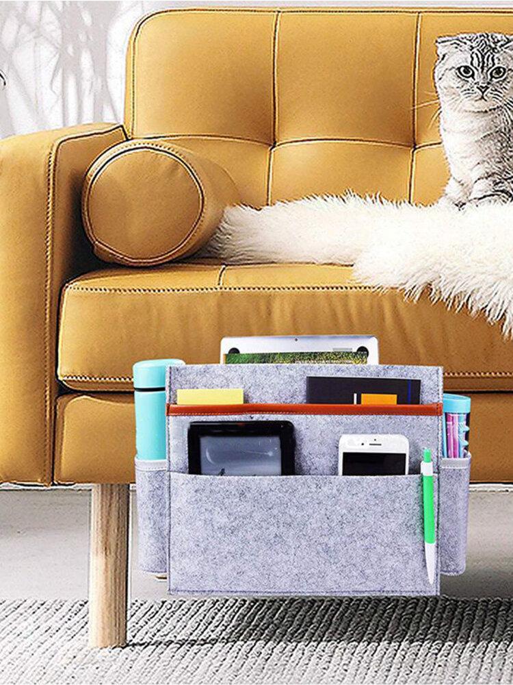 Filz Nachttisch Aufbewahrungstasche Aufbewahrungstasche Sofa Custom Fashion Digital Fernbedienung Buch Aufbewahrungstasche