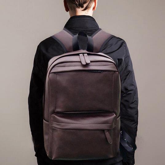 Men Solid Casual Multifunction Laptop Zipper Backpack