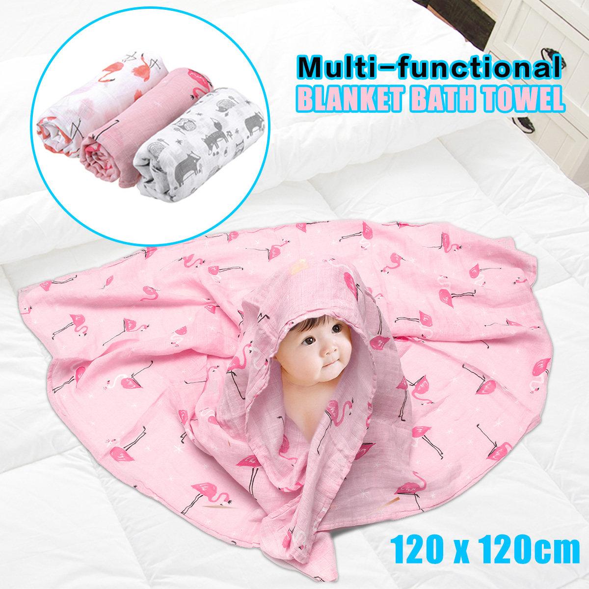 Cute Cotton Soft Bath Towel Wrap Blanket For Newborn Infant Swaddle Baby