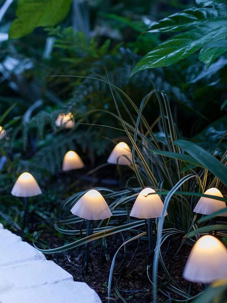 1 PC 10/12/20/30 LED Solar String Light Garden Decoration Mushroom Lights Waterproof Garland Patio Decor Outdoor Lamp