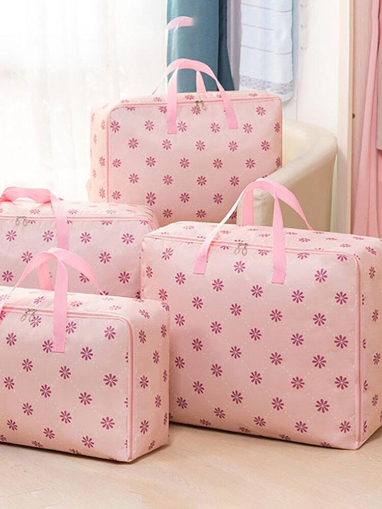 Zipper Portable Quilt Clothes Storage Bag Home Travel Storage Handbag