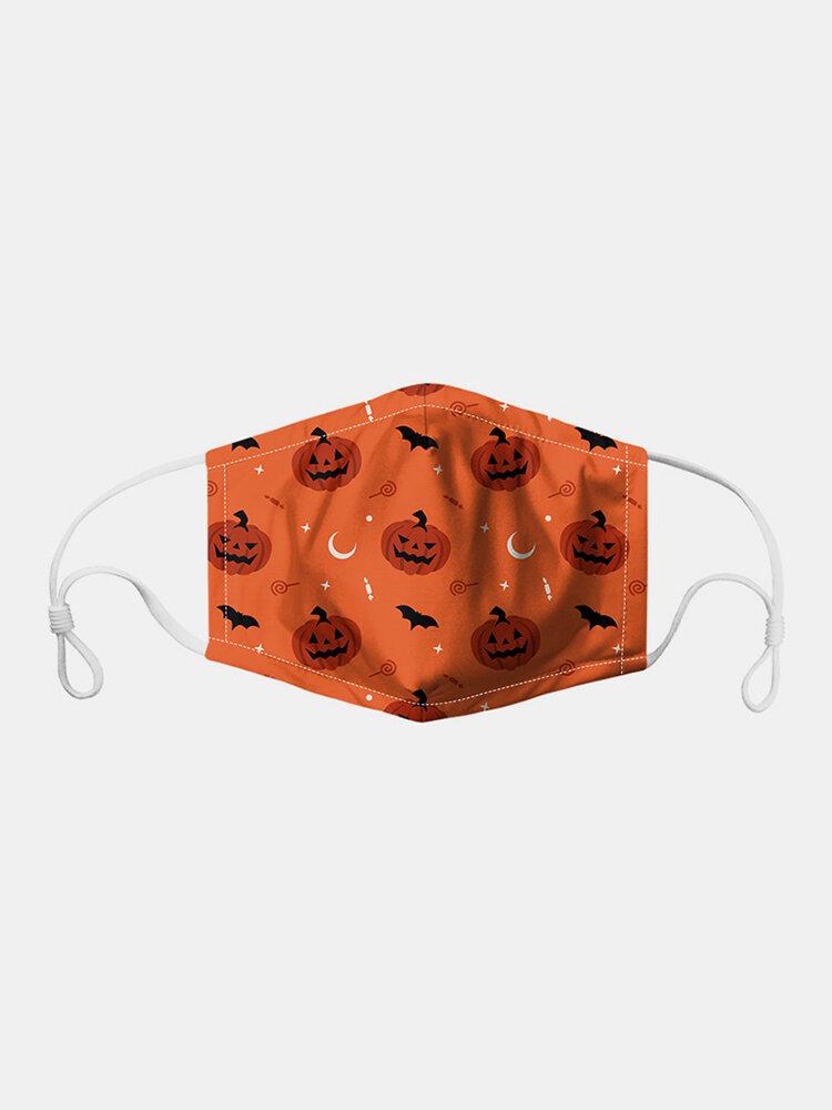 男性と女性7PCSPM2.5フィルターハロウィーンスタイルの印刷使い捨てではない通気性マスク
