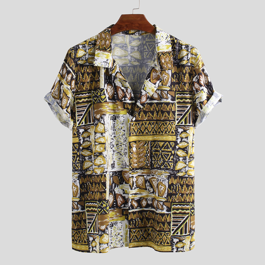 Summer Ethnic Printed Loose Shirts