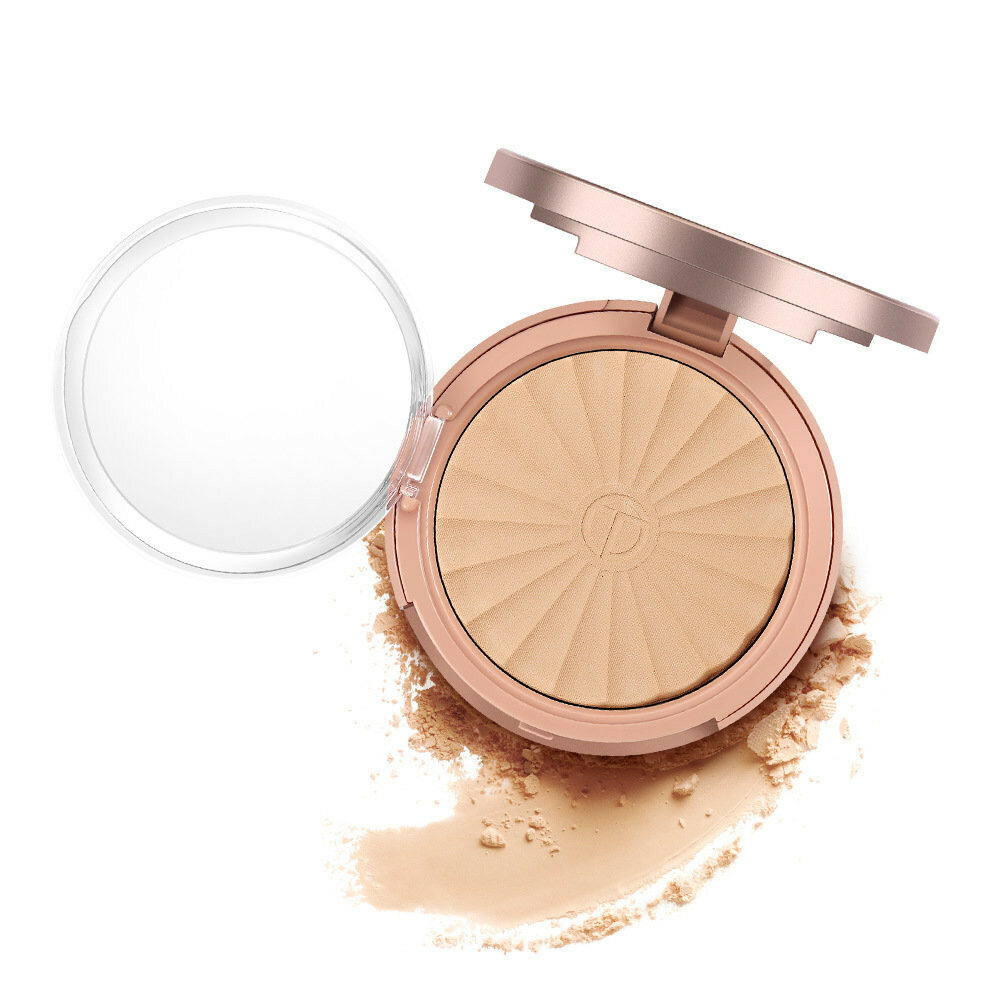 O.TWO.O Foundation Pressed Powder Base Makeup Face Brightener Oil-control Moisturizer Concealer Prim